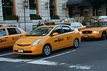 Prius taxi in New York
