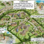 "Artists impression of new ""care village"""