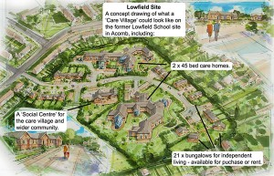 Lowfields care village - 3 years behind schedule