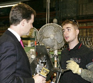 Nicjk Clegg and young person