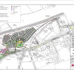 Askham Bar new park and ride site layout. click to enlarge