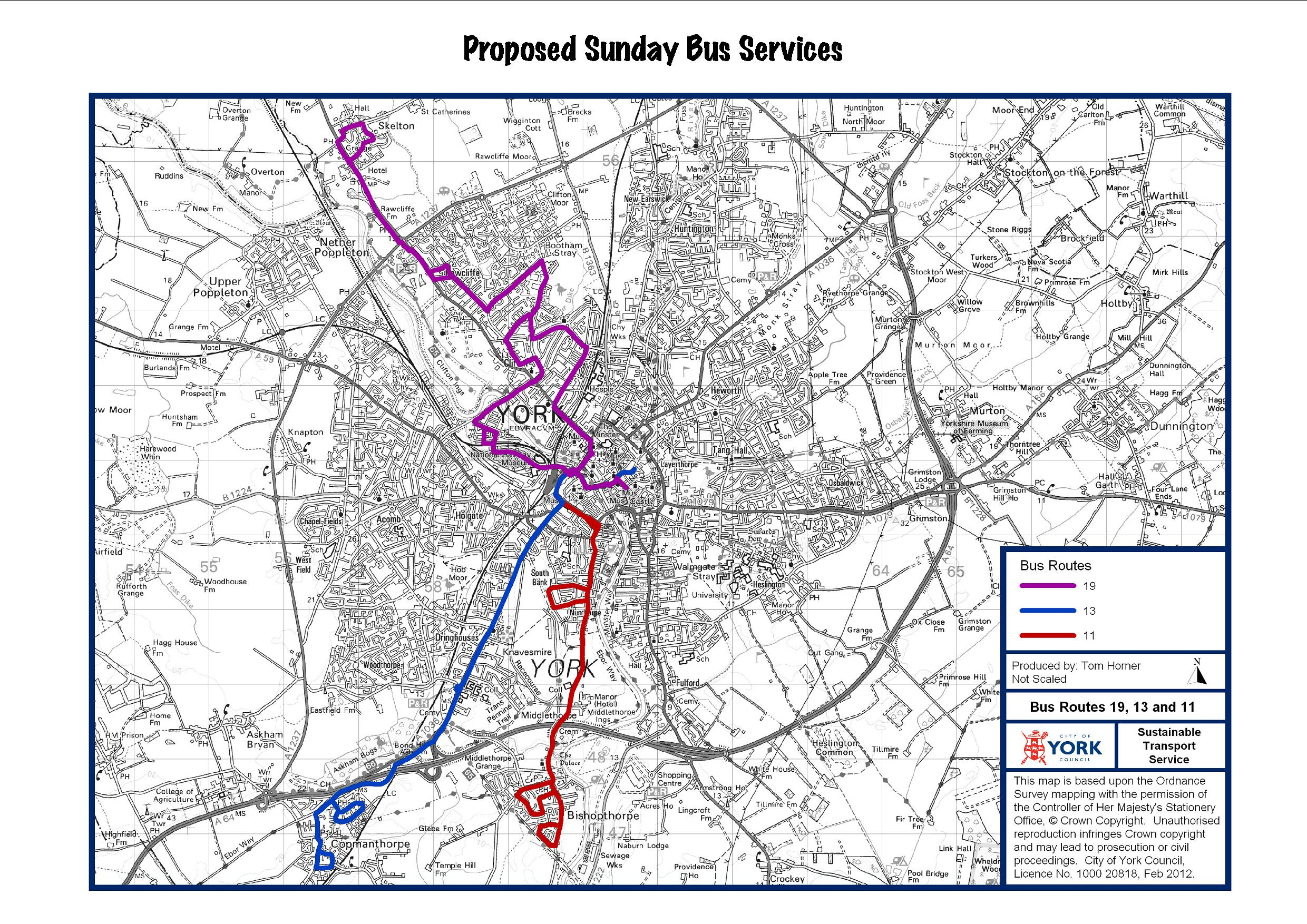 Proposed changes to York Sunday bus services 112 113 Steve Galloway