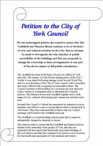 York residents petition