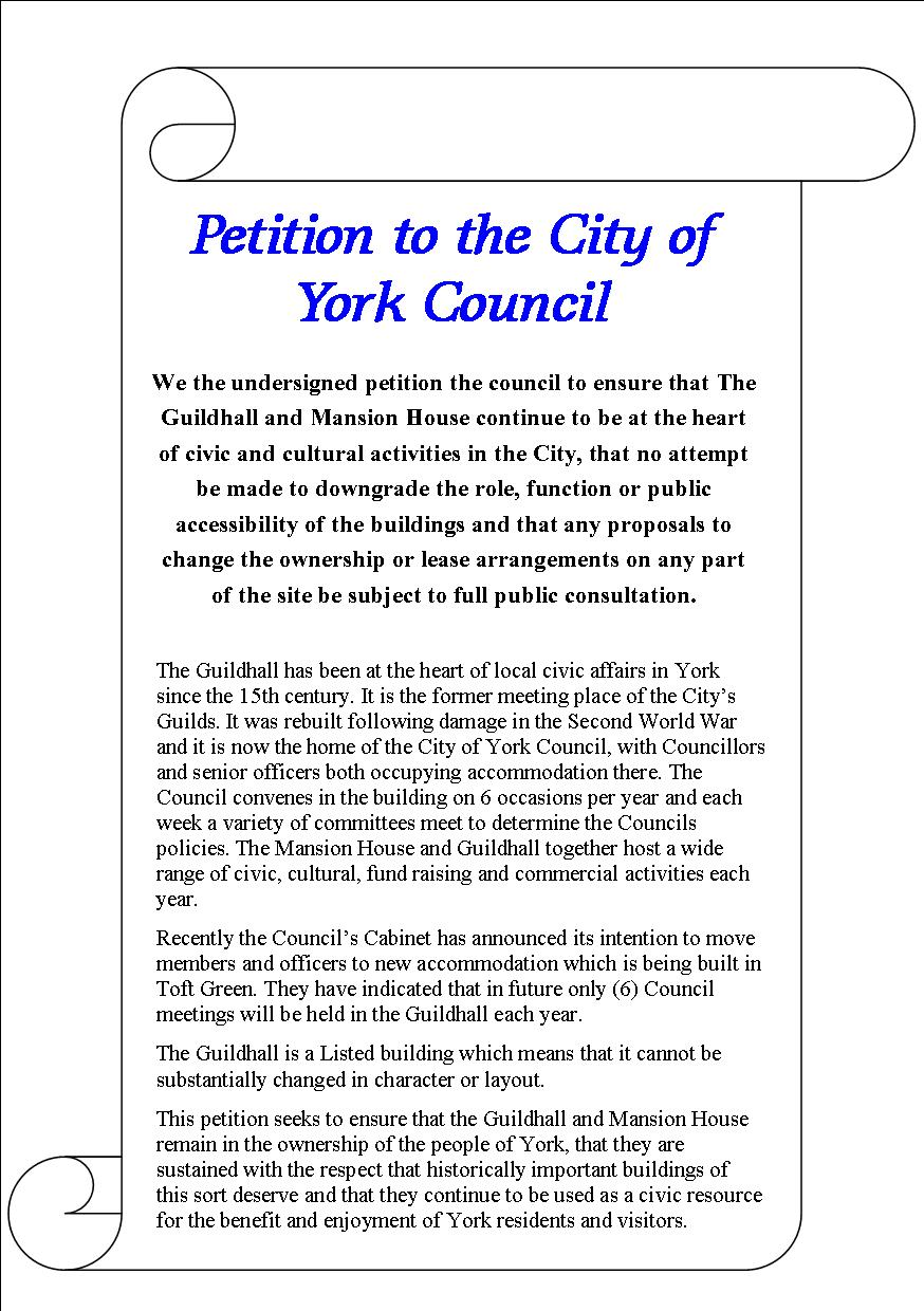how to write a petition to council