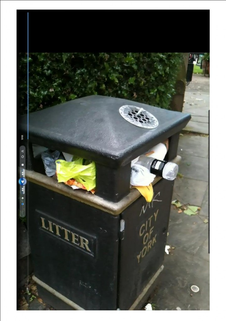 More litter bins may be provided