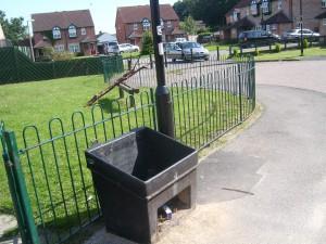 Abandoned salt bin