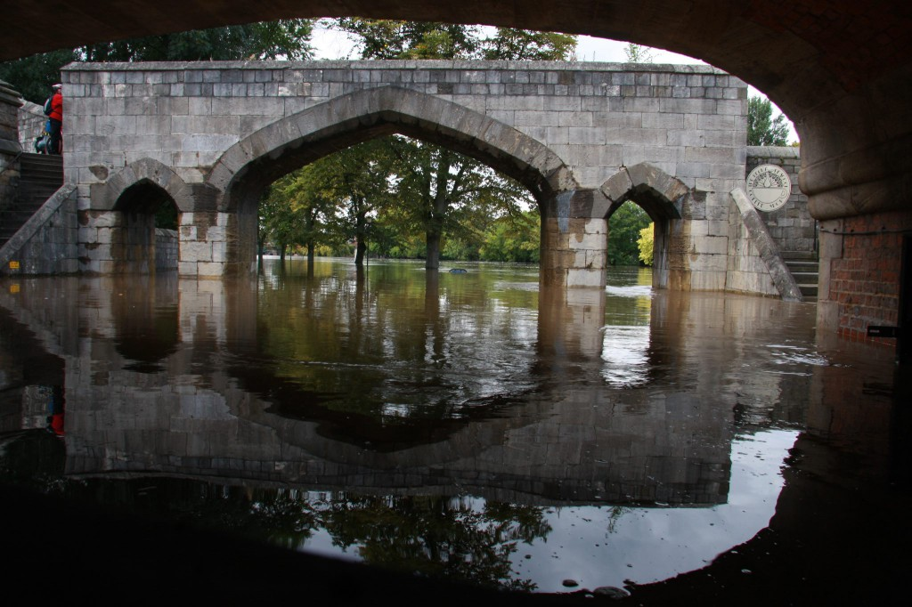 York floods Sept 2012 bar walls