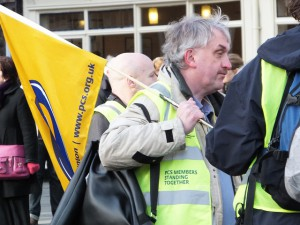 Burton: protesting against cuts 2 years ago