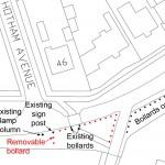 Location of additional bollards