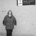 LibDem Councillor Ann Reid outside Moor Lane Youth Centre