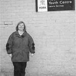 LibDem Councillor Ann Reid outside Moor Lane Youth Centre