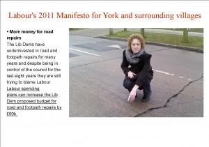 Labour road repair promise