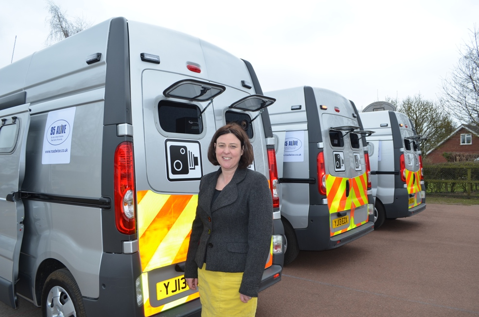 ba5871d1bc PCC Julia Mulligan with the new mobile speed camera vans