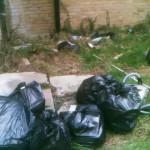 9 Bradley Drive dumping in rear garden 11th March 08