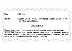 Cabinet agenda WebCam