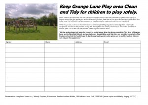 Grange Lane petition. click to enlarge