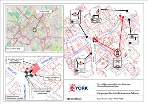 Coppergate bus lane enforcement plans Click to enlarge