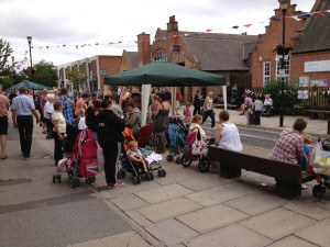 Crowds on Acomb Front Street