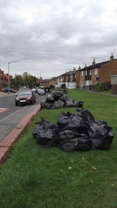 Uncollected rubbish in Gale Lane Tuesday 10th September