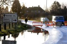 A19 closed near Fulford last winter