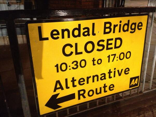 Lendal bridge notice