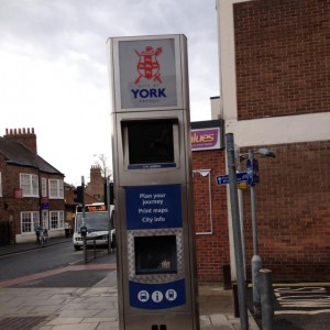 Acomb Front Street information terminal. Out of order for over 2 years