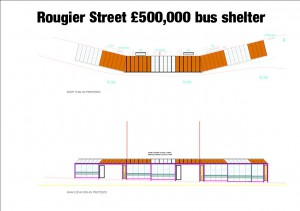 £500,000 bus stop