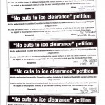 St Stephens Road area ice petition October 2013