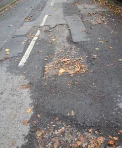 Carriageway failed in Vesper Drive