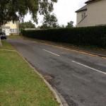 Blocked gutters in Harold Court