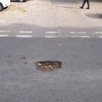 Potholes in Acomb  car park