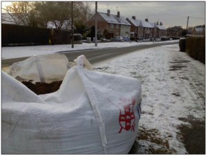 Sacks of salt were deployed by the then LibDem controlled Council during icy weather in 2010