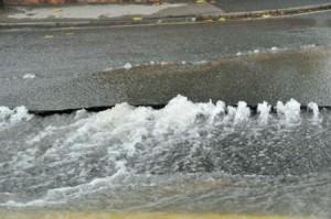 Burst water main in York today