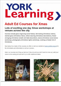 Christmas skills courses click to access details