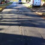 Worn highays surface Hamilton Drive West