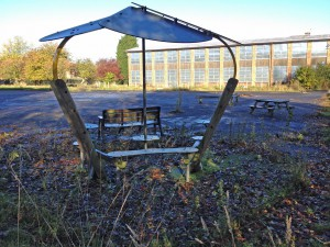 Derelict school site next to Hob Moor