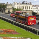 Sight seeing bus on Lendal Bridge
