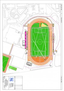 Athletics layout - Heslington West click for original