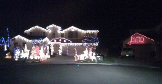 Christmas House lights