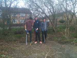 Volunteers have been keeping the Foxwood park tidy
