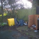 "York Housing Association have agreed to remove this dumping from the Haddon Close snicket ""within the next few days"""