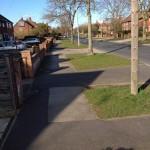"Ridgeway footpaths need repair. Try reporting them to ""Smarter York"""