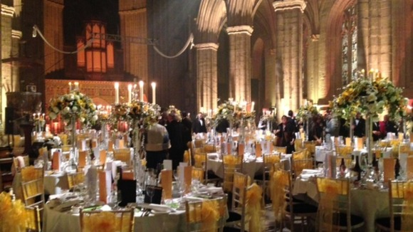 Tour De France launch dinner in Ripon Cathedral