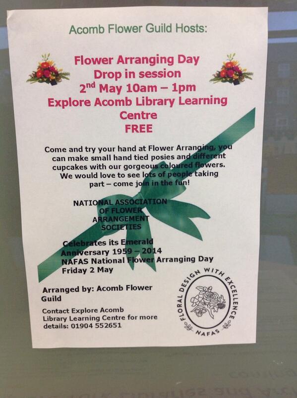 Acomb library 2nd May 2014