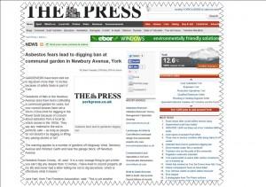 Newbury Avenue press headline