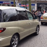 Cars in conflict with pedestrians on St Sampsons Square