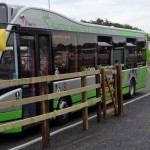 Electric bus on charge
