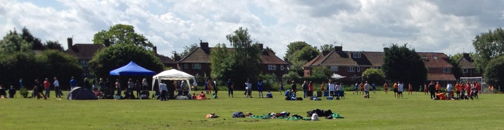 Football gala at Lowfields playing fields today