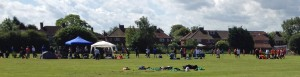 Football gala at Lowfields playing fields. The latest plan threaten to build on the green spaces in the area.