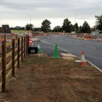 Poppleton park and ride road works 28th June 2014